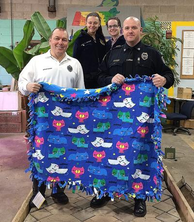 FFA Members Make and Donate Blankets To the Montague Police Department